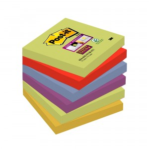 KARTECZKI SAMOPRZYLEPNE POST-IT® SUPER STICKY 76X76MM